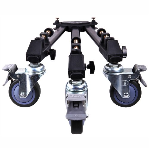 Dolica-LT-D100-Professional-Lightweight-and-Heavy-Duty-Tripod-Dolly-with-Adjustable-Leg-Mounts