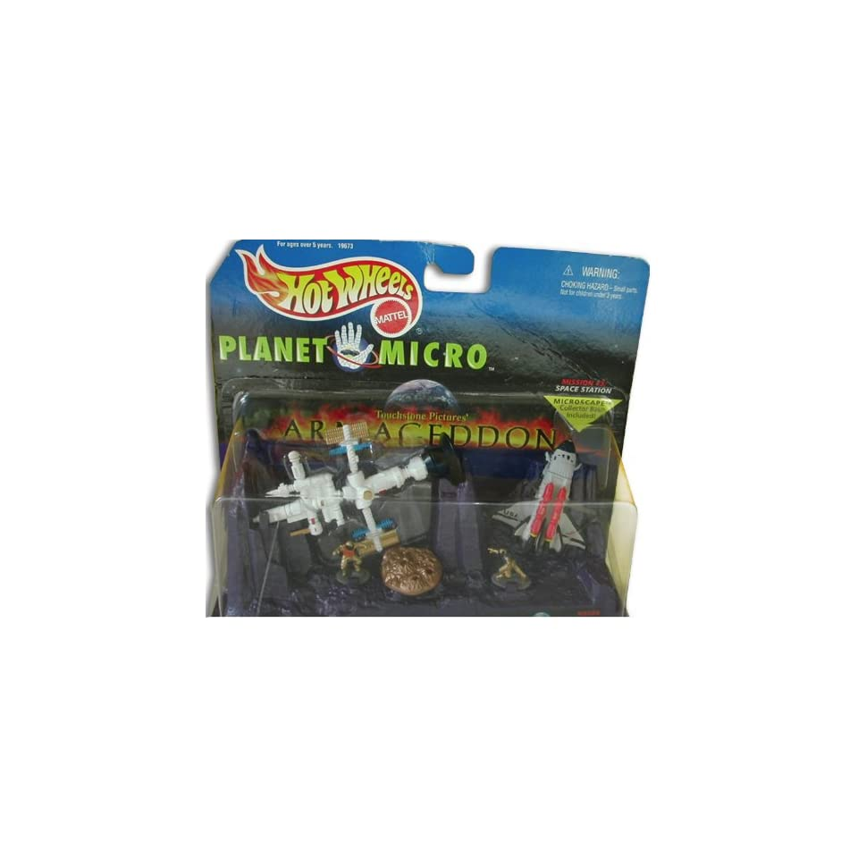 Mattel Hot Wheels Planet Micro Mission #3 Space Station (from the movie Armageddon) Microscape