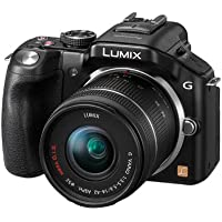 Panasonic DMC G5 K 16MP Mirrorless Camera with 14-42mm f/3.5-5.6 Asperical OIS Zoom Lens (Black), 4GB Carad and Case