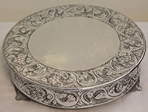 18 Inch Silver Round Wedding Cake Stand Plateau