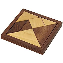 Handmade Wooden Tangram Puzzle for Kids - Puzzle Games for Children - Unique Kids Gifts