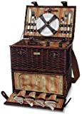 The Classique Carrier Deluxe Picnic Basket with Service for 4