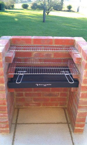 BLACK KNIGHT BARBECUE BKB401 STAINLESS STEEL GRILL BBQ KIT + WARMING RACK