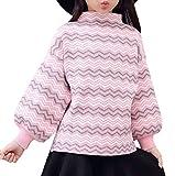Snone女の子 セーター ランタンスリーブ セーター ニット毛糸 秋冬にコーデ 保温セーター丸首 子供セーター