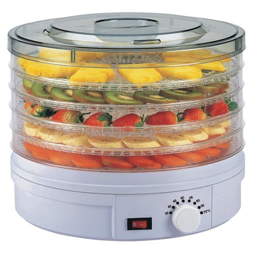 Wolf Julie Diane Food Dehydrator - with Adjustable Temperature Control - 5 Levels @ 28cm Dia - ONLY £39.95 DELIVERED