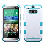 Product B00K7A1ZDO - Product title MyBat TUFF Hybrid Phone Protector Cover for HTC One M8 - Retail Packaging - Ivory White/Tropical Teal
