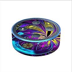 Skin Decal Vinyl Wrap for Amazon Echo Dot 2 (2nd generation) / Purple Beautiful Design