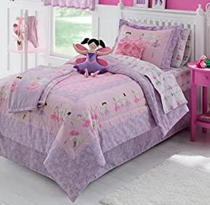 Ballerina, Ballet, Girls Twin Comforter Set (6 Piece Bed In A Bag)
