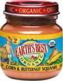 Earth's Best Organic 2nd Corn & Butternut Squash, 4-Ounce Jars (Pack of 12)