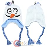 Disney Frozen Olaf Knit Hat, Knit Snowman Laplander with Carrot Nose