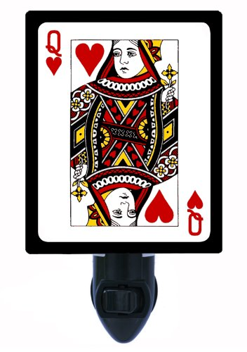 Night Light - Queen Of Hearts - Playing Cards - Deck - Poker front-1011411