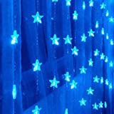 1.5Mx1.6M Blue Pentagram LED String Light with 80 LEDs