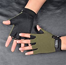 Lucky Beth Men Sunscreen Anti-Slip Outdoor Cycling Gloves Sports Breathable Half Finger Gloves