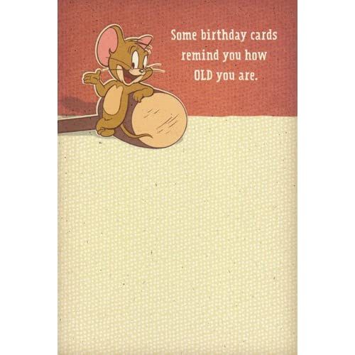 """Amazon.com: Greeting Card Birthday Tom and Jerry """"Some Birthday Cards"""