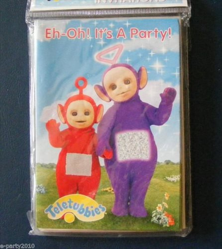 Teletubbies Invitations w/ Envelopes (8ct)
