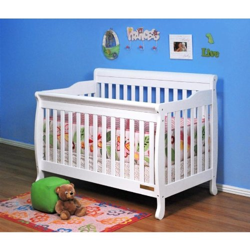 Baby Mile Eve 3-In-1 Convertible Crib - White front-223338