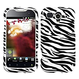 MYBAT HWU8680HPCIM056NP Slim and Stylish Protective Case for the Huawei myTouch U8680 - Retail Packaging - Zebra Skin