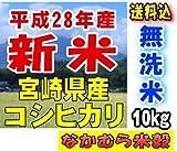【新米】 宮崎県産 無洗米 コシヒカリ 10kg 平成28年産 (5kg×2袋)