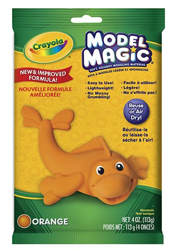 16 Pack CRAYOLA LLC FORMERLY BINNEY & SMITH MODEL MAGIC 4 OZ ORANGE