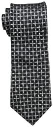 Donald Trump Signature Collection Men's Ruble Core Tile Grid Tie,Black,One Size
