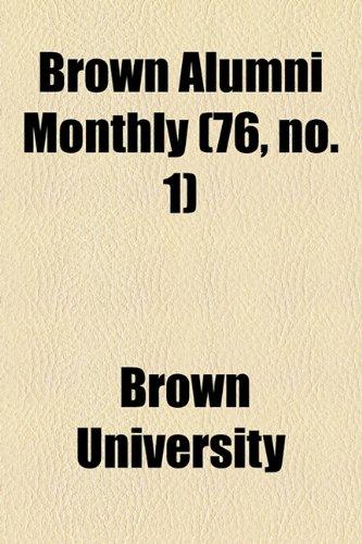 Brown Alumni Monthly (76, no. 1)