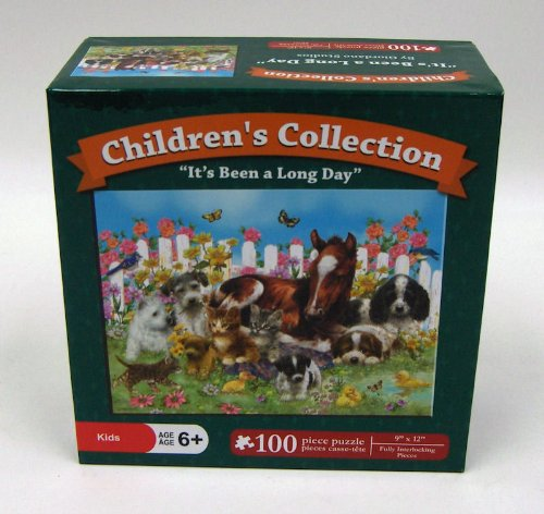 "Children's Collection Puzzle ""It's Been a Long Day"" 100 Piece Puzzle"