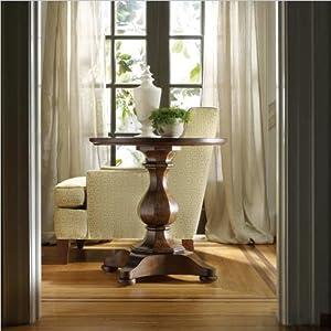 Price Comparisons Hooker Furniture Classique Round Pedestal End Table In Medium Chestnut Renaissancetrivia