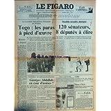 FIGARO (LE) [No 13087] du 27/09/1986 - nouvelle intervention francaise en afrique - au togo les paras a pied d'oeuvre...