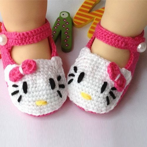 Eonkoo Baby Newborn Infant Girls Crochet Knit Socks Sandals Toddler Shoes Prewalker