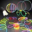 "100 8"" Premium Bulk Glowsticks Glow Stick Party Pack: Create 10 Glasses, 6 Flowers or 3 Balls, 6 Tri Bracelets and up to 50 Bracelets and Necklaces! Mixed Colors"