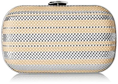 Loeffler Randall Accessories MINAUD-WST Evening Bag,Natural/Silver,One Size