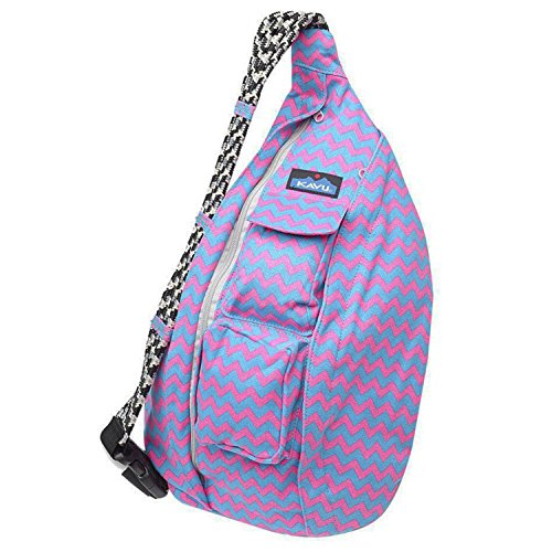 KAVU Rope Bag, Neon Chevron, One Size