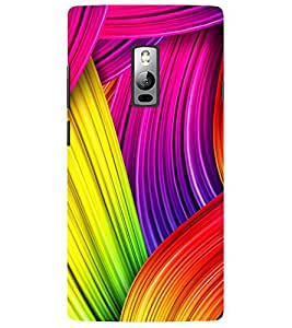 Evaluze graffiti color Printed Back Cover for ONE PLUS TWO