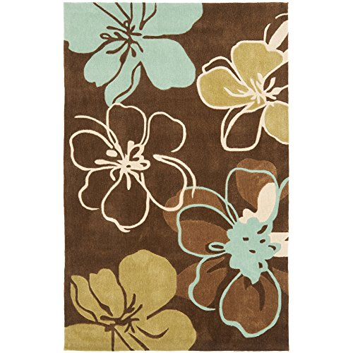Safavieh Modern Art Collection MDA611A Handmade Brown and Multi Polyester Area Rug, 3 feet by 5 feet (3' x 5')