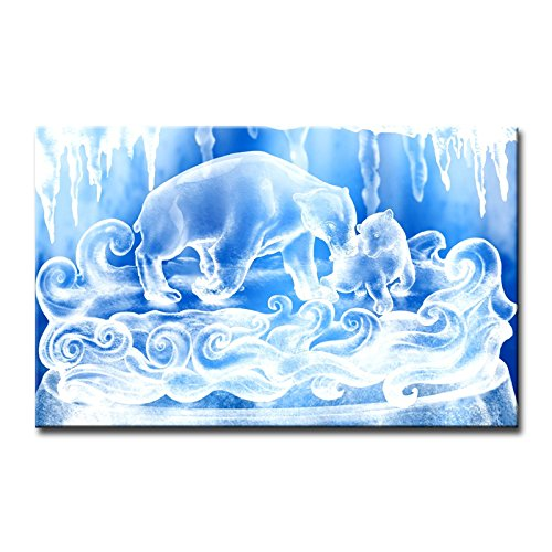 Blue Wall Art Painting White Bluesnow Bears Figure Pictures Prints On Canvas Animal The Picture Decor Oil For Home Modern Decoration Print