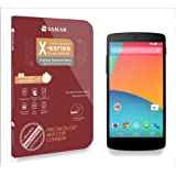 SAMAR® - Premium Quality Tempered-Glass Screen Protector for Google Nexus 5 [GLASS.X Series SLIM] (0.23mm) Ultra Thin Lightweight Rounded Edge Hardness up to 9H (harder than a knife) - Includes Microfiber Cleaning Cloth