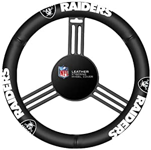 Fremont Die Oakland Raiders Steering Wheel Cover by Fremont Die