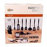 Hampton Forge HMC01B085A 48-Piece Essex Kitchen Starter Set