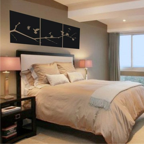 Asian Japanese Cherry Blossom Tree Vinyl Wall Art Decal (721762358061)