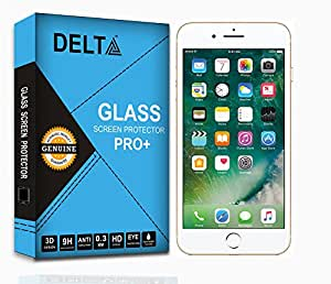 Delta Premium Pro+ Tempered Glass,Shatter Proof Screen Protector for Apple iPhone 7 with Cleaning Kit (2.5D round Edges,0.3mm,9H hardness)
