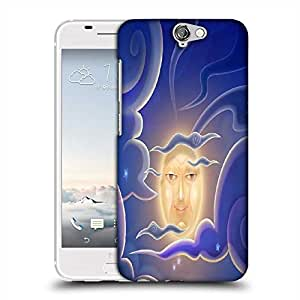 Snoogg smiling moon 2698 Designer Protective Back Case Cover For Asus Zenfone 6
