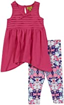Nicole Miller Baby-Girls Infant Jersey Tunic With Legging 2 Piece Set, Pink, 18