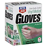 Rite Aid Gloves, Vinyl Medical, One Size Fits Most, 50 gloves