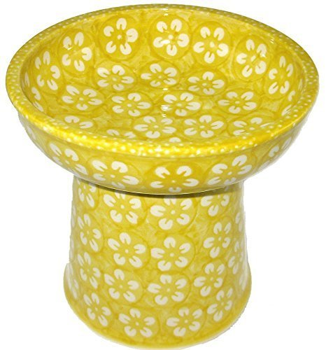 poterie-polonaise-surelevee-pour-petit-chien-chat-nourriture-seche-plat-bol-a-eau-j8zo-jaune-blossom