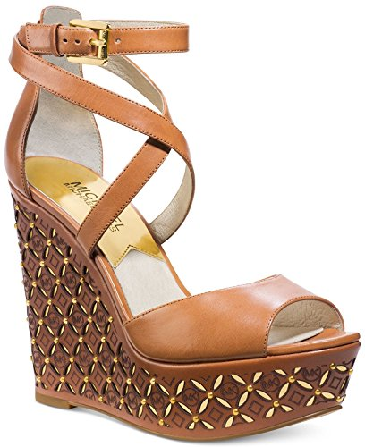 Michael Michael Kors Women'S Gabriella Wedge (Luggage Leather 9.0 M)