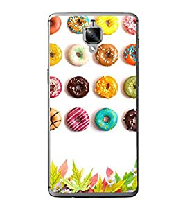 Colourful Doughnuts 2D Hard Polycarbonate Designer Back Case Cover for OnePlus 3 :: OnePlus Three