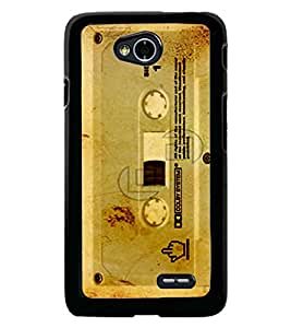 Fuson Premium Old Cassette Metal Printed with Hard Plastic Back Case Cover for LG L70 Dual