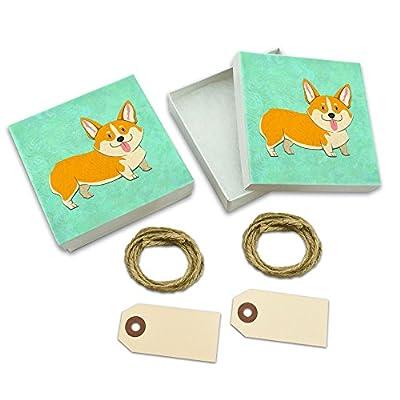 Quirky Corgi White Gift Boxes Set of 2