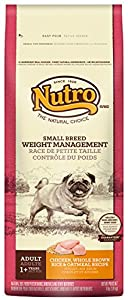 The Nutro Company Small Breed Adult Weight Management Food for Dogs with Chicken, Whole Brown Rice and Oatmeal Formula, 4 Pound