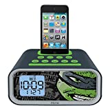 Teenage Mutant Ninja Turtles Dual Alarm Clock Speaker System,   TM-H22
